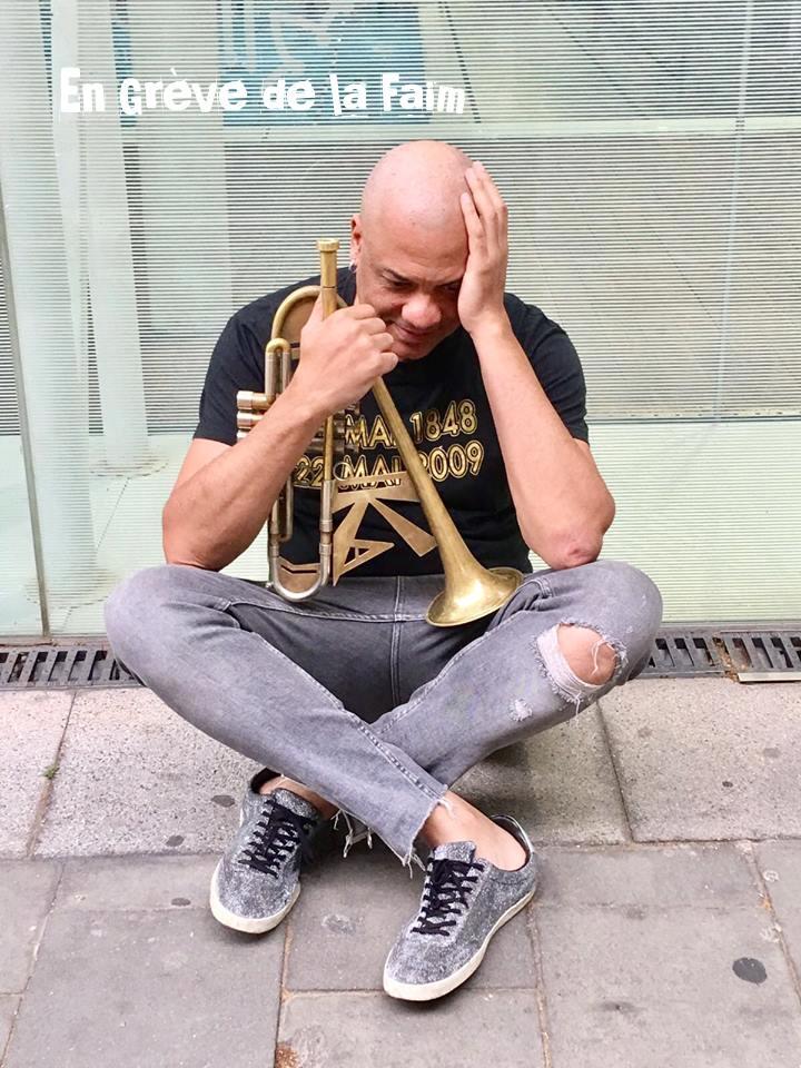 """Franck Nicolas:""""Il me paraît légitime de demander à avoir les mêmes chances qu'un trompettiste Français de souche pour les programmations Jazz en France et face aux Victoires Jazz de la musique, ce qui est bien loin d'être le cas…"""""""