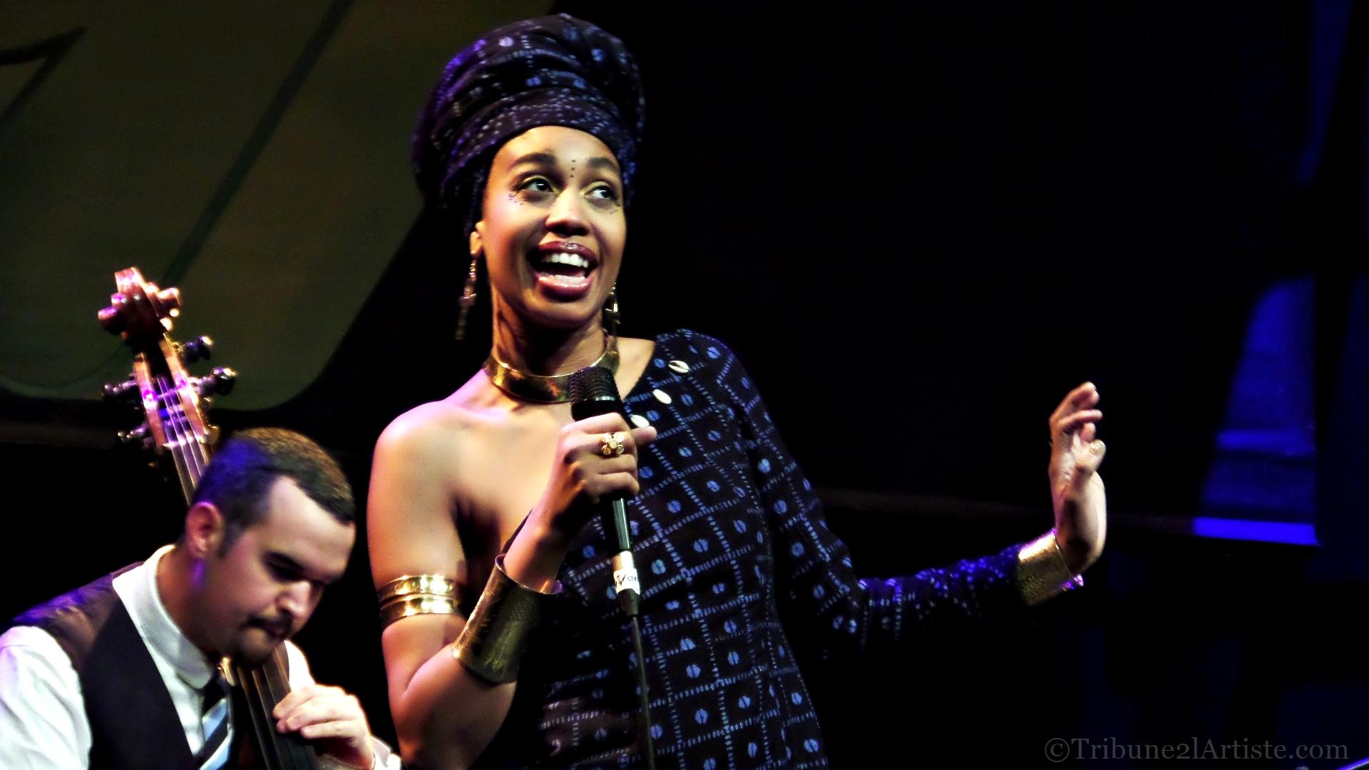 Jazzmeia Horn, la preuve par le Schlachthof, qu'elle est une voix qui compte dans le jazz, et entend la rester pour longtemps.