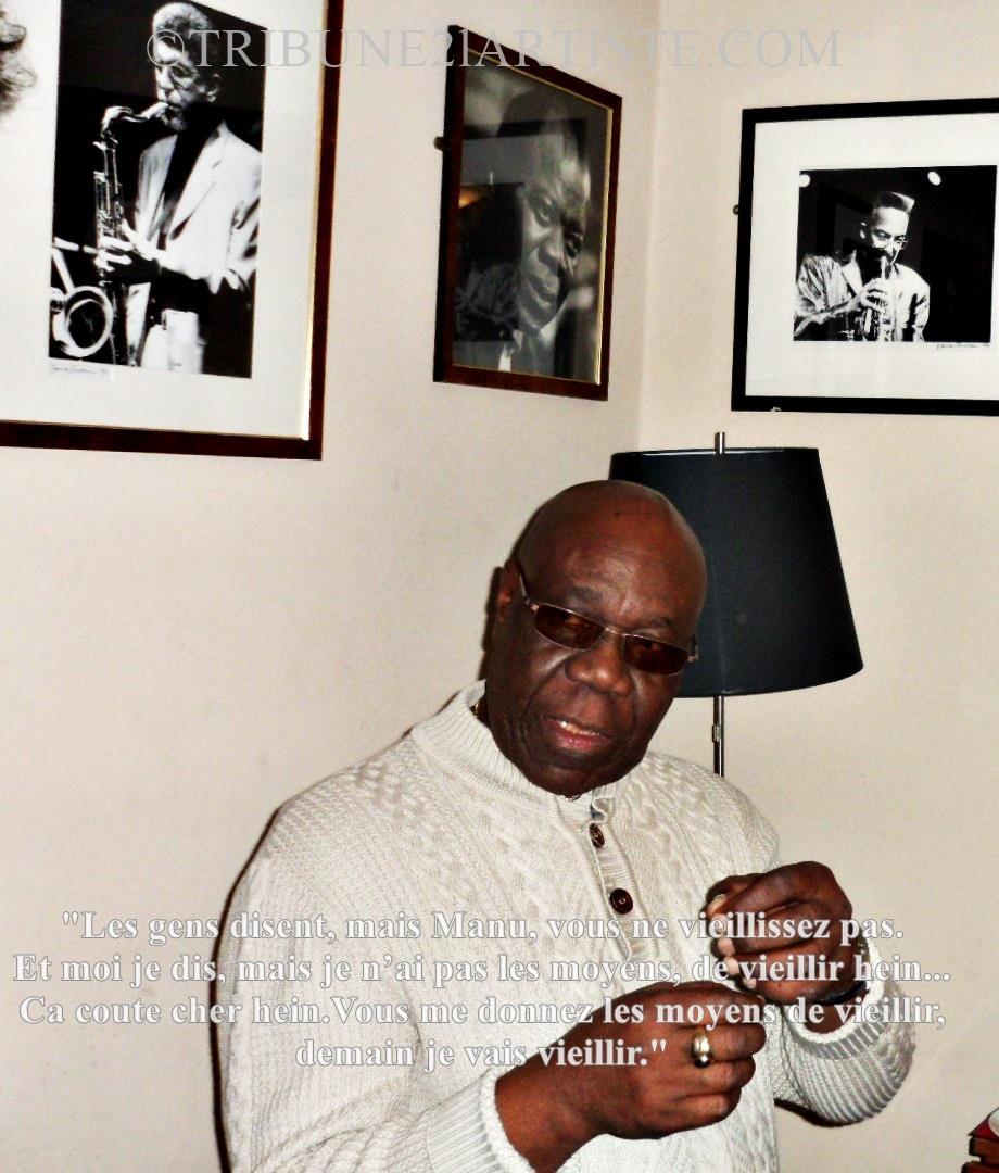 """Manu DIBANGO:""""Il y a des artistes qui aiment légalement, et d'autres qui n'aiment pas légalement, les œuvres d'autres artistes"""". A l'aune de Babatunde Olatunji, cela donne quoi ?"""